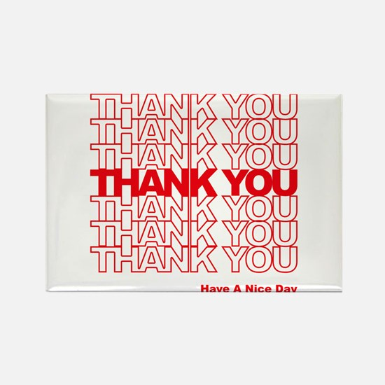 Thank You Bag Rectangle Magnet