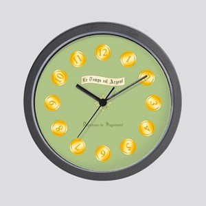 Time is Money Sage Wall Clock