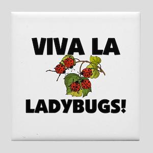 Viva La Ladybugs Tile Coaster