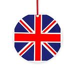 British Union Jack - Holiday Ornament Round