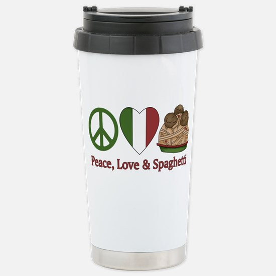 Peace, Love & Spaghetti Stainless Steel Travel