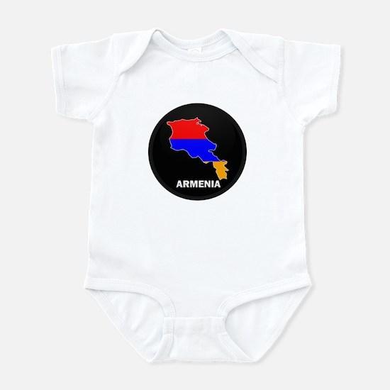 Flag Map of Armenia Infant Bodysuit
