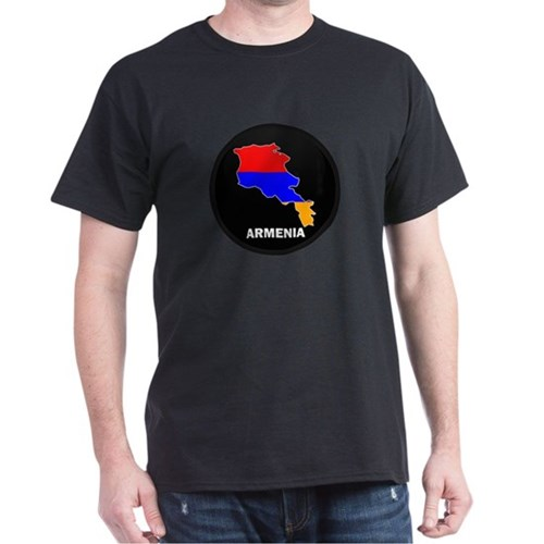 Flag Map of Armenia T-Shirt