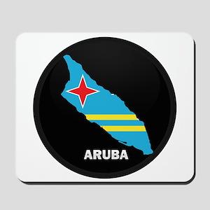Flag Map of Aruba Mousepad