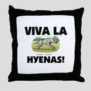 Viva La Hyenas Throw Pillow