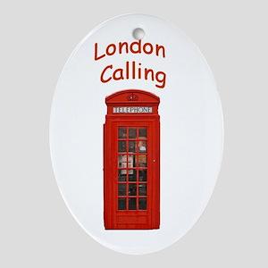 London Calling - Gift Ornament/Keepsake Oval