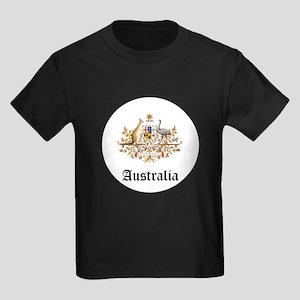 Australian Coat of Arms Seal Kids Dark T-Shirt