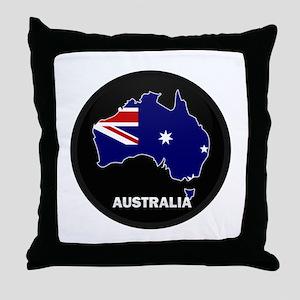 Flag Map of Australia Throw Pillow