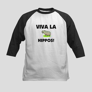 Viva La Hippos Kids Baseball Jersey