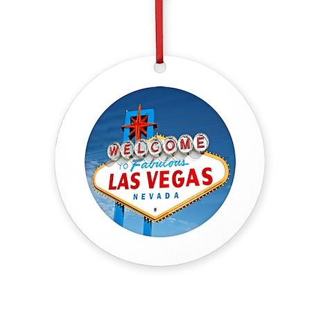 Las Vegas Sign - Gift Ornament/Keepsake Round