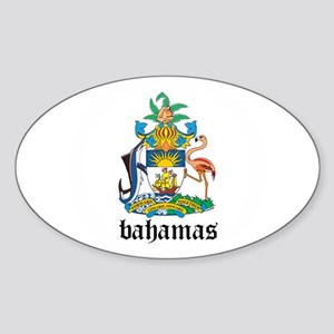 Bahamian Coat of Arms Seal Oval Sticker