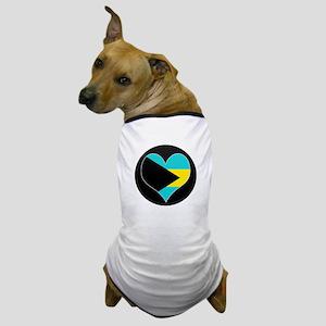 I love Bahamas Flag Dog T-Shirt