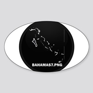Flag Map of Bahamas Oval Sticker