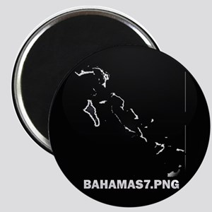 Flag Map of Bahamas Magnet