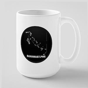 Flag Map of Bahamas Large Mug