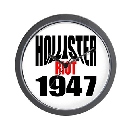 Hollister Riot 1947 Wall Clock