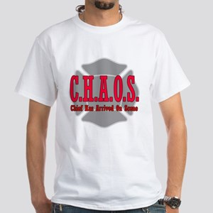 CHAOS Chief Has Arrived on Sc White T-Shirt