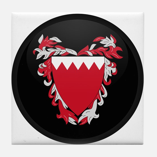 Coat of Arms of Bahrain Tile Coaster