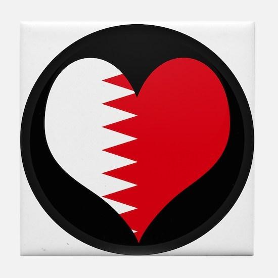 I love Bahrain Flag Tile Coaster