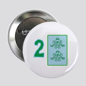 """Froggy I'm Two! 2.25"""" Birthday Button"""