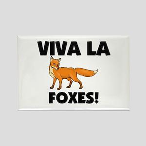 Viva La Foxes Rectangle Magnet