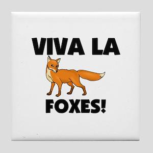 Viva La Foxes Tile Coaster