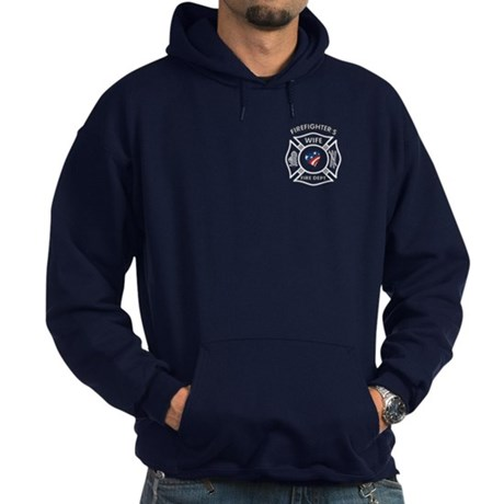 Fire Fighter Wife Hoodie (dark)