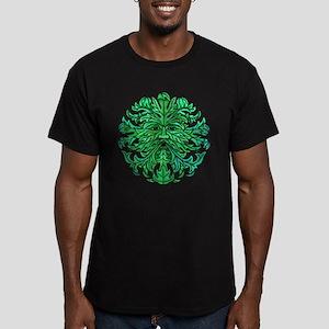 Green Man Gaze Men's Fitted T-Shirt (dark)
