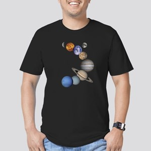 Planet Swirl Men's Fitted T-Shirt (dark)