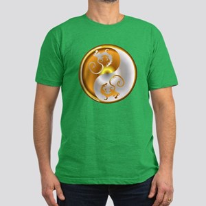 Zen Dragons Men's Fitted T-Shirt (dark)