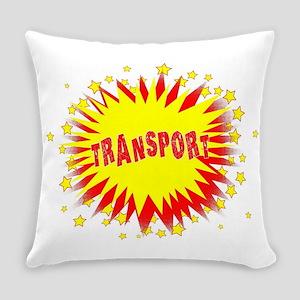 Cartoon Yellow Transport Splash Everyday Pillow