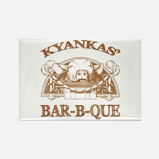 Kyankas' Family Name Vintage Barbeque Rectangle Ma