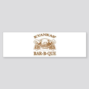 Kyankas' Family Name Vintage Barbeque Sticker (Bum