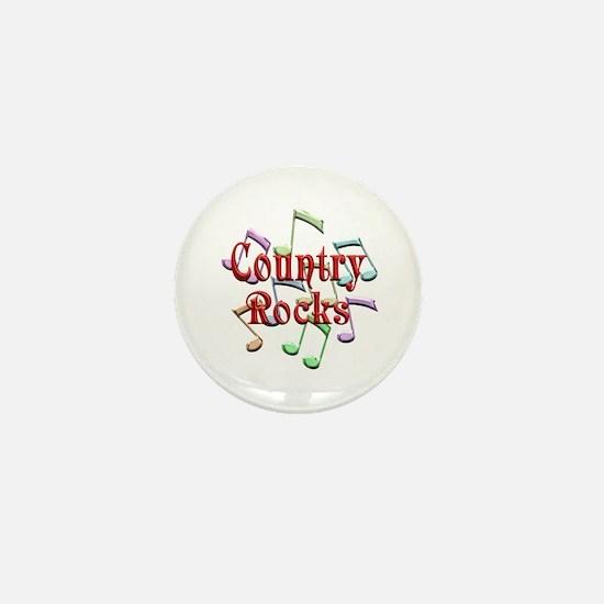 Country Rocks Mini Button