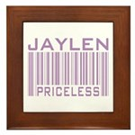 Jaylen Custom Priceless Barcode Framed Tile
