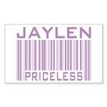 Jaylen Custom Priceless Barcode Rectangle Sticker