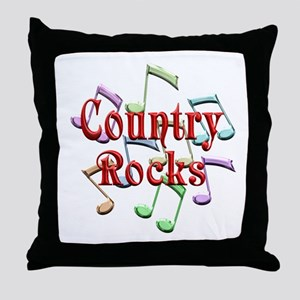 Country Rocks Throw Pillow