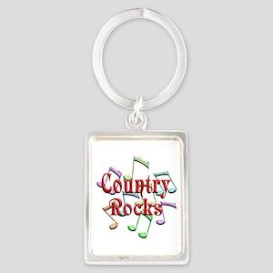 Country Rocks Portrait Keychain