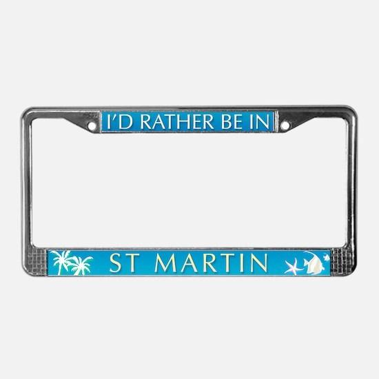 St Martin License Plate Frame