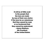 Quote of James Madison Small Poster
