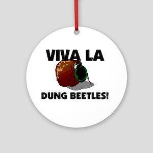 Viva La Dung Beetles Ornament (Round)