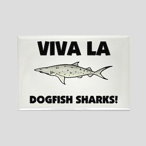 Viva La Dogfish Sharks Rectangle Magnet