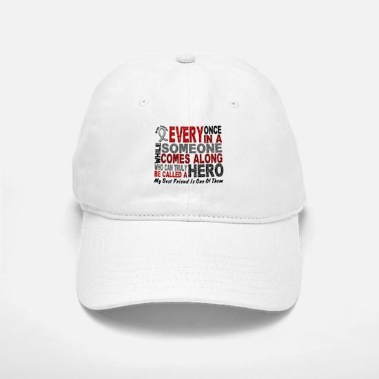 HERO Comes Along 1 Best Friend BRAIN CANCER Baseball Baseball Cap