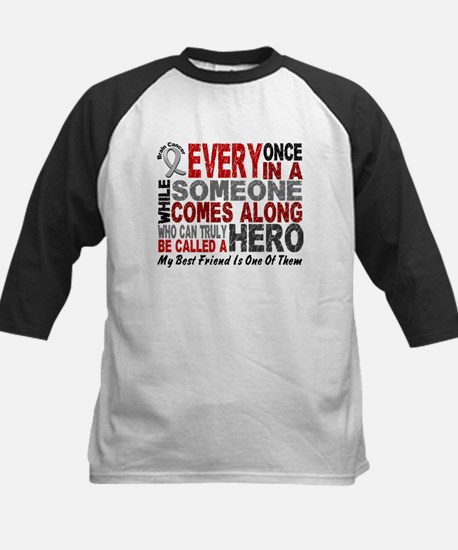HERO Comes Along 1 Best Friend BRAIN CANCER Tee