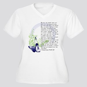 Run for the Prize Women's Plus Size V-Neck T-Shirt