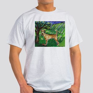 Irish Terrier spring whimsica Ash Grey T-Shirt