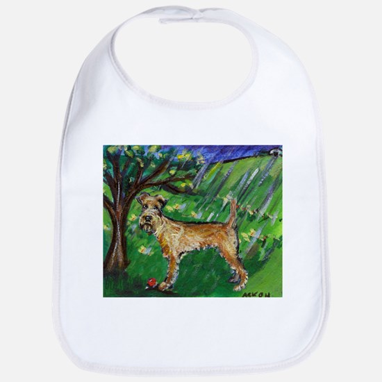 Irish Terrier spring whimsica Bib