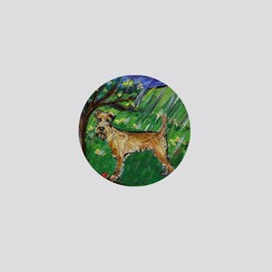 Irish Terrier spring whimsica Mini Button