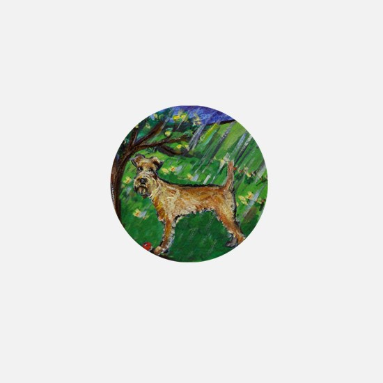Irish Terrier spring whimsica Mini Button (10 pack