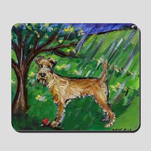 Irish Terrier spring whimsica Mousepad